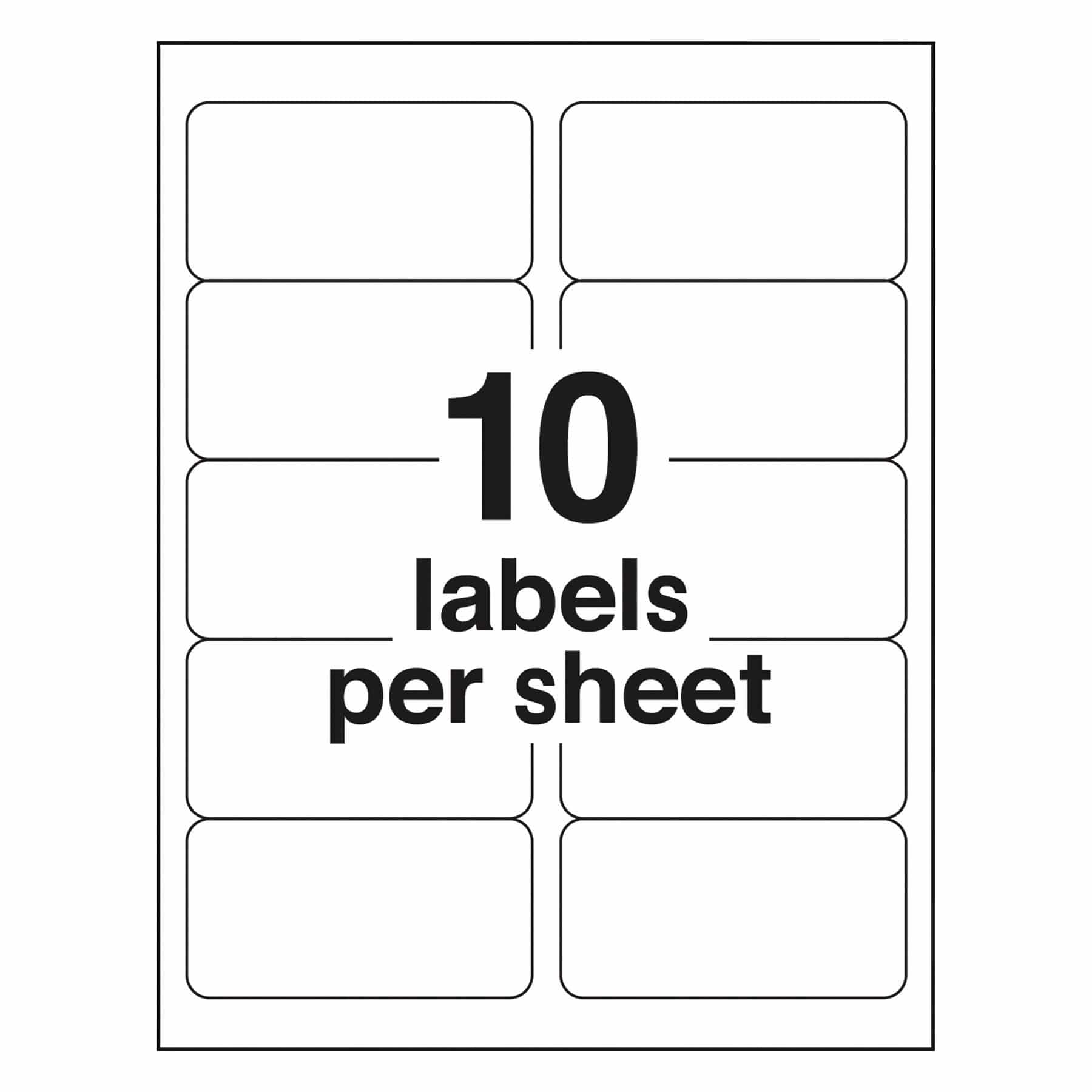 20 labels per page template and shipping label template word