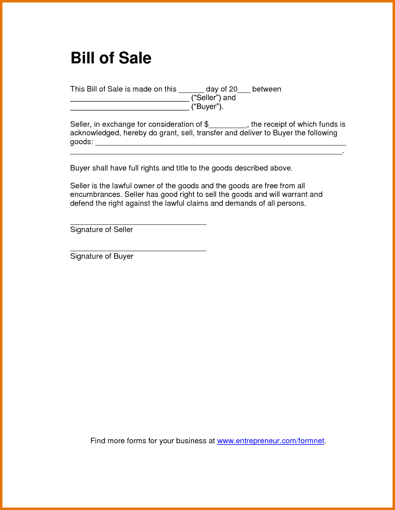 Atv bill of sale template word and atv bill of sale colorado