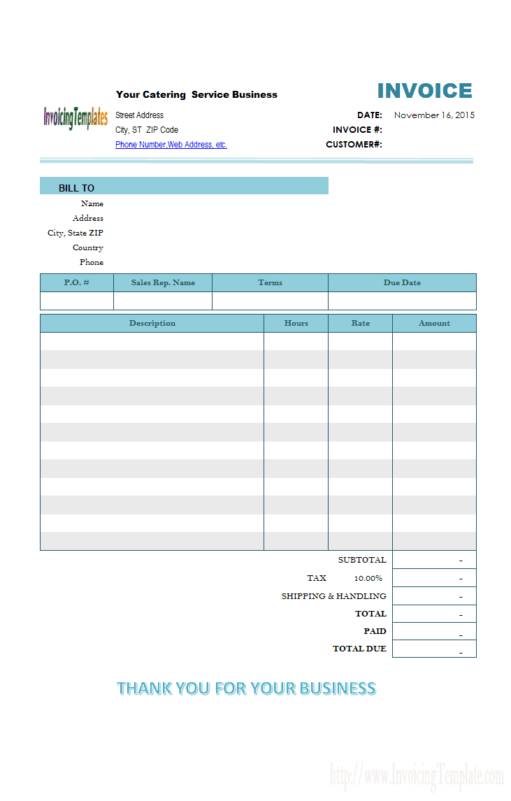 Bakery invoice format and bakery invoice template excel