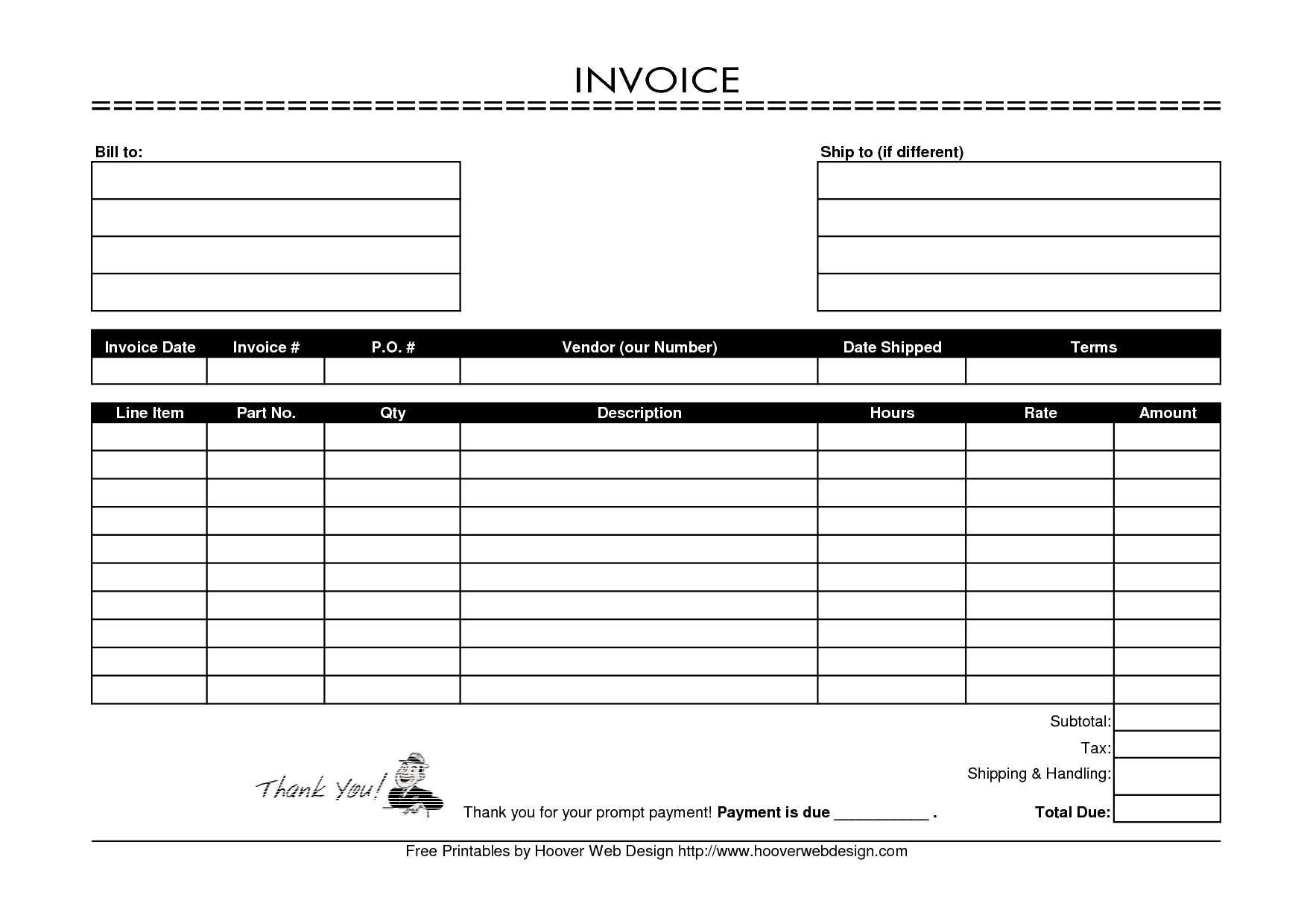 Bakery invoice forms and cake invoice template word