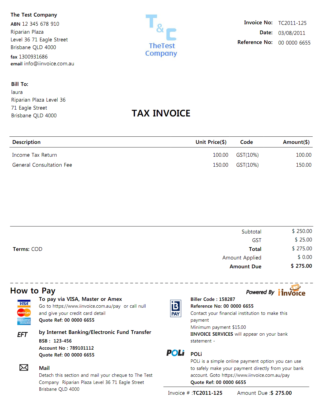 Basic invoice template and best free invoice template