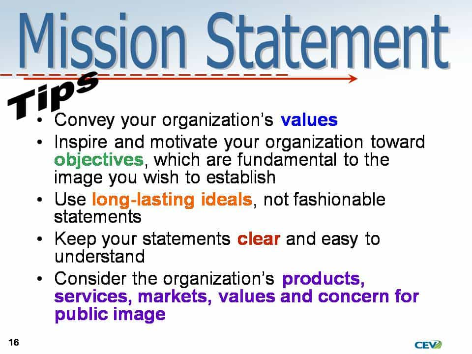Mission statements for property management and management company mission statement