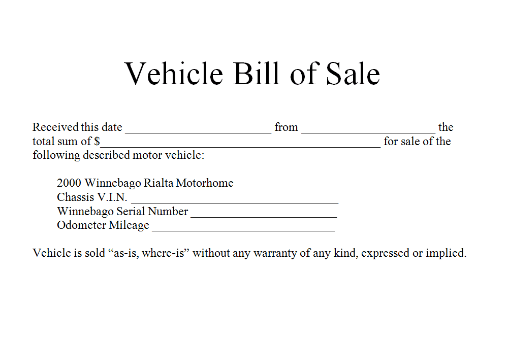Example of a bill of sale for car and sample bill of sale for car nc