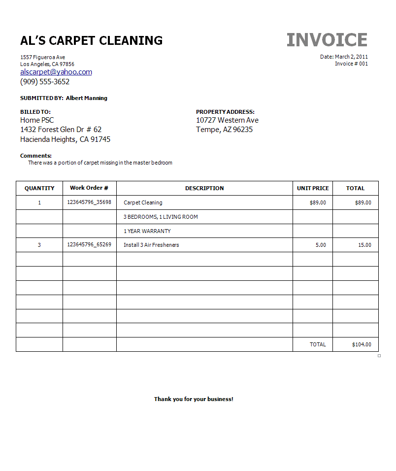 Free Carpet Cleaning Estimate Template And Carpet Cleaning Cost Estimator