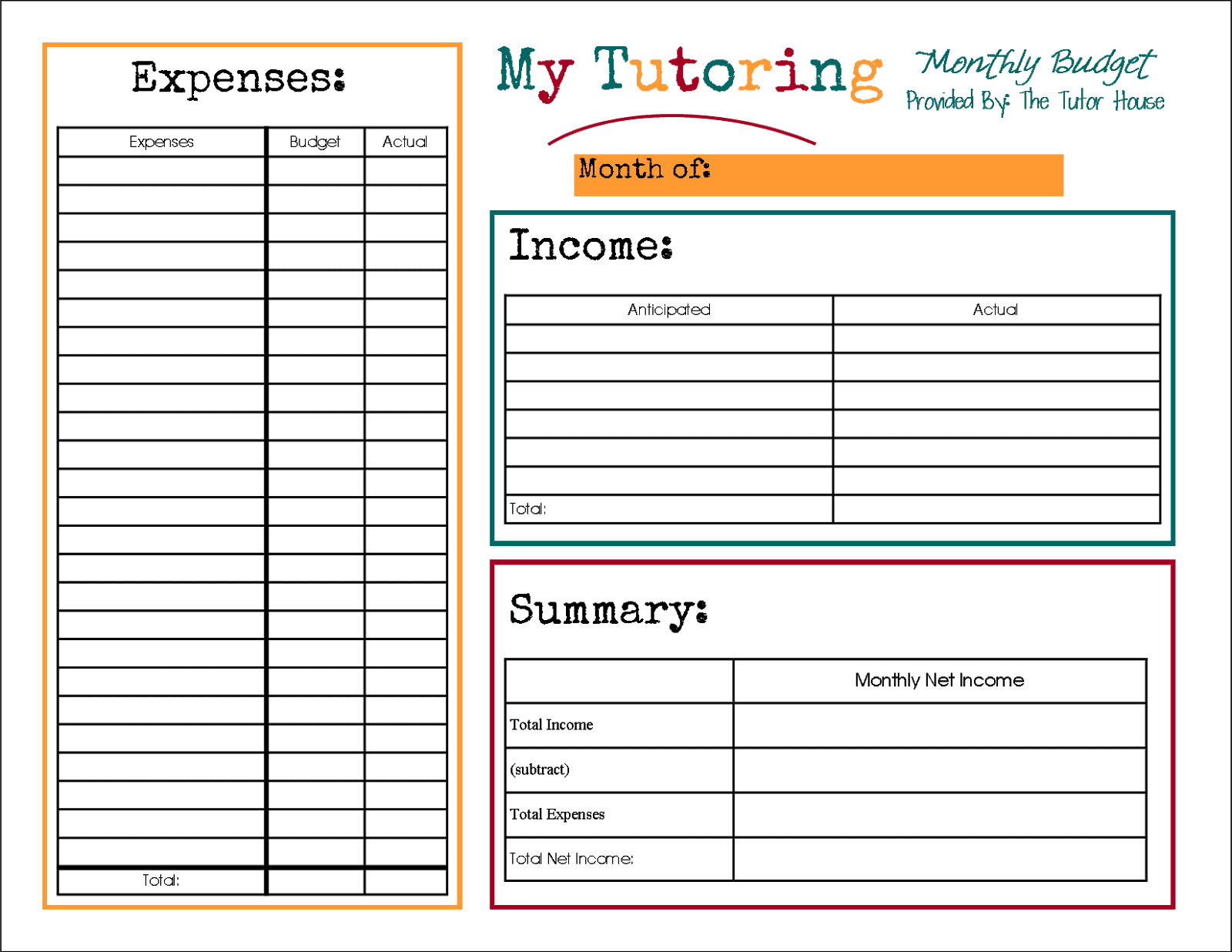 Free printable business budget worksheets and printable small business expense worksheet