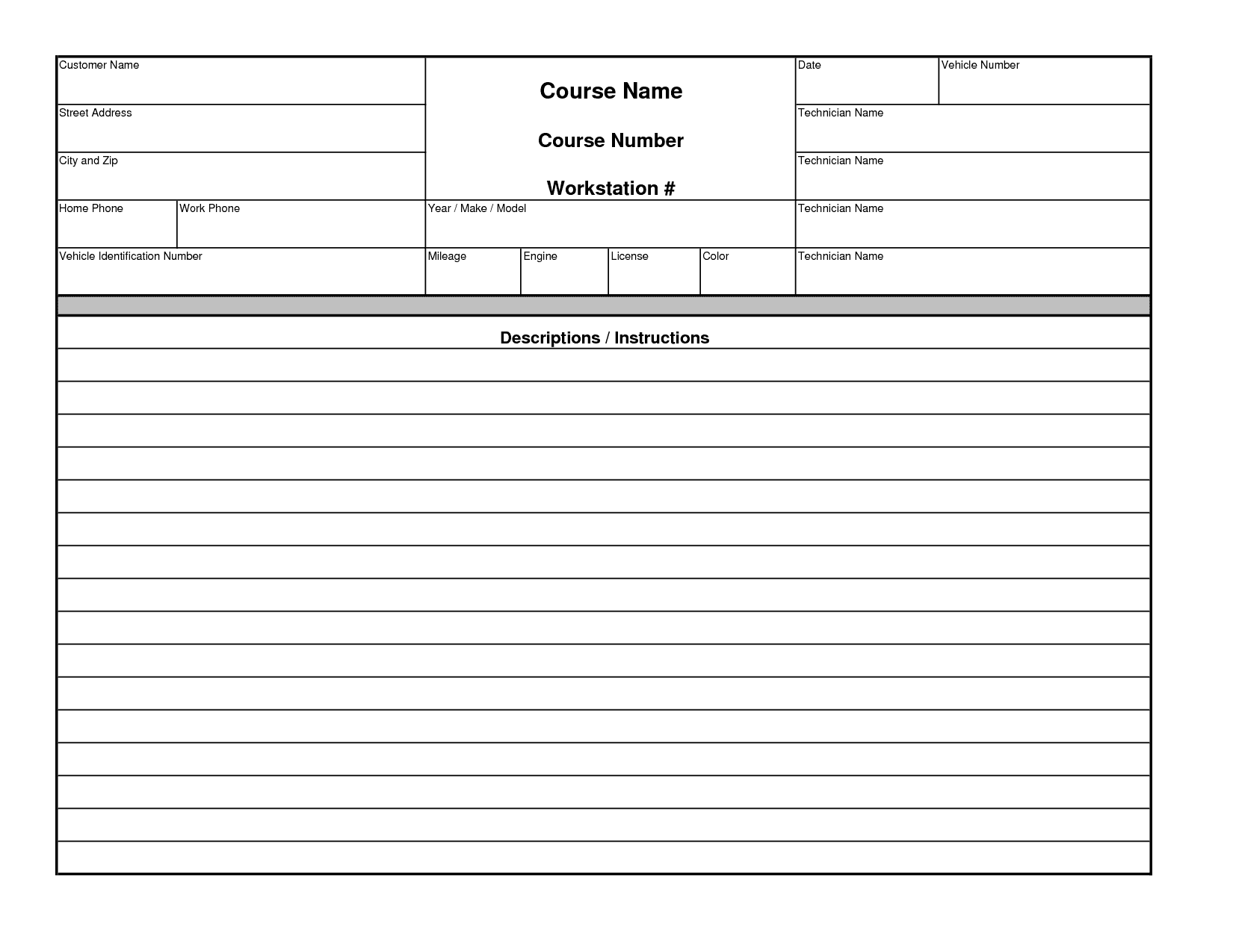 Free Printable Service Invoice Template And Free Sample Invoice For Services