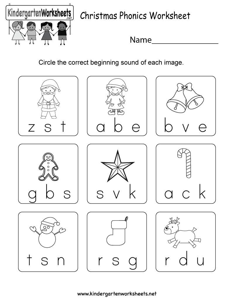 Free Worksheets On Phonics For Kindergarten And Kindergarten Phonics Worksheets Pdf