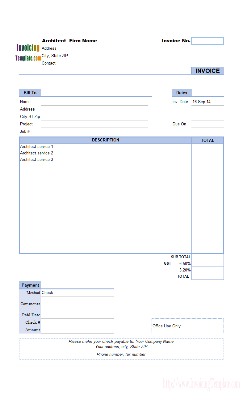 Handyman Invoice Samples And Invoice Template For Handyman