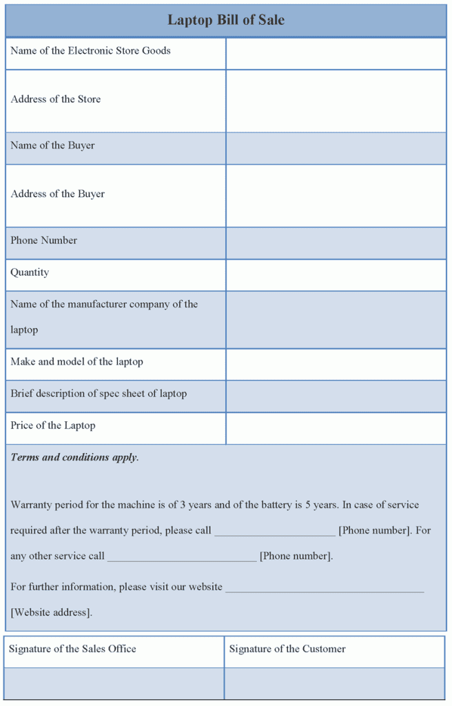 Ri Dmv Bill Of Sale Template And Blank Bill Of Sale Form