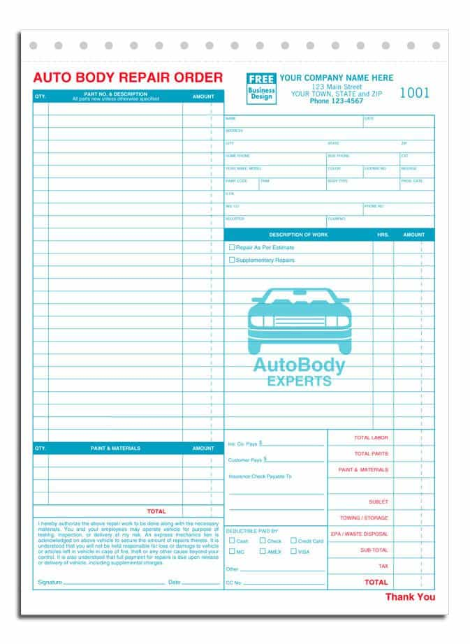 Auto Repair Estimate Template Word And Auto Work Estimate Template