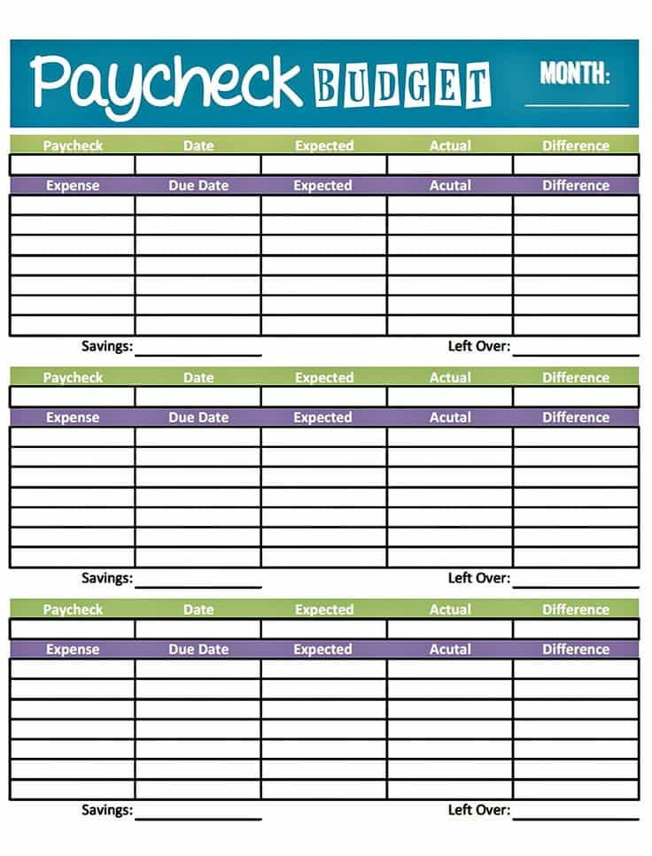 Bill Budget Template And Monthly Budget Worksheet