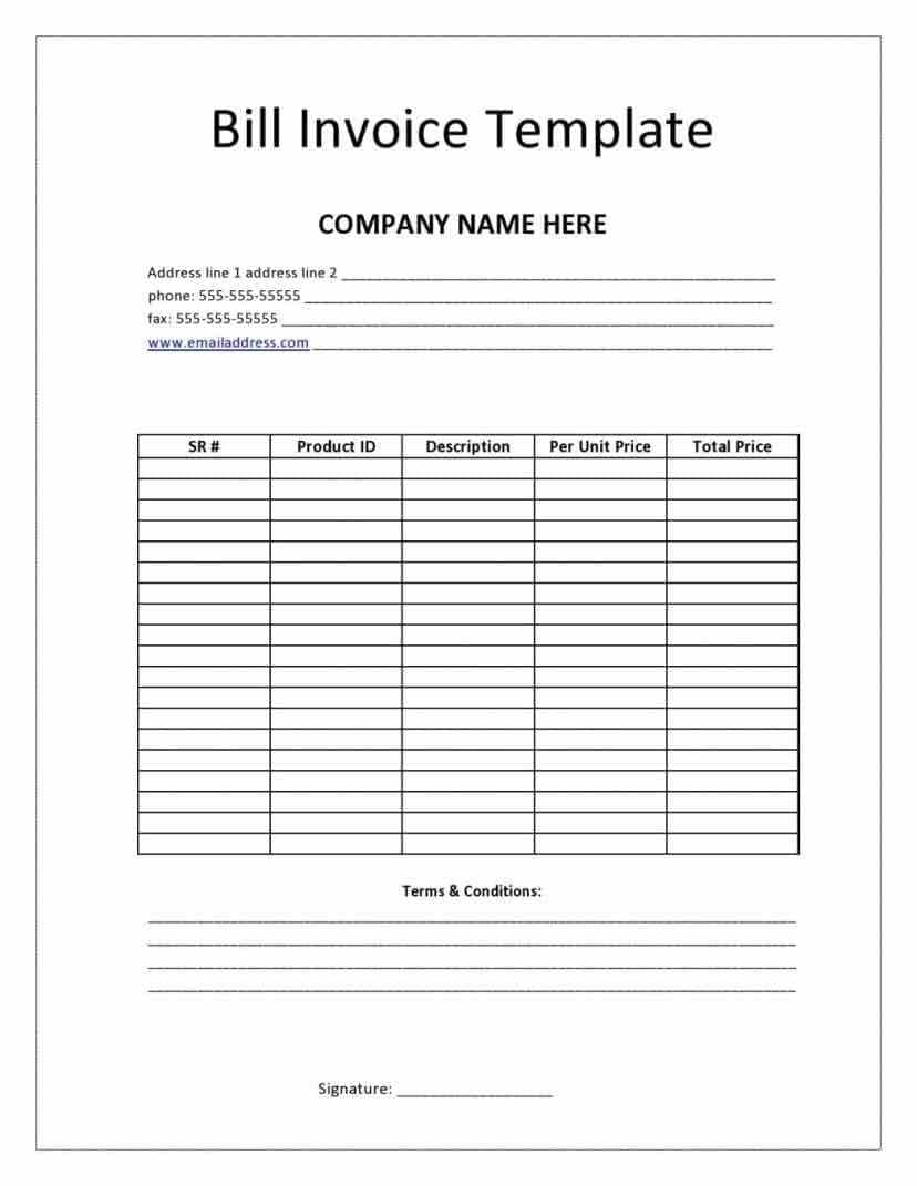 Bill Of Sale Template For Open Office And Ms Bill Of Sale Template