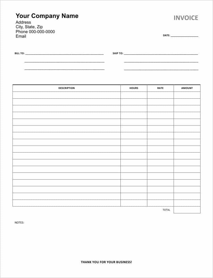 Consulting Invoice Template Word And Small Business Invoicing