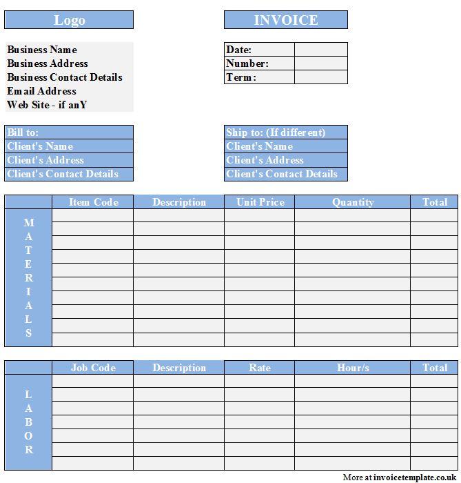 Free Small Business Invoice Template And Invoice Template Docx