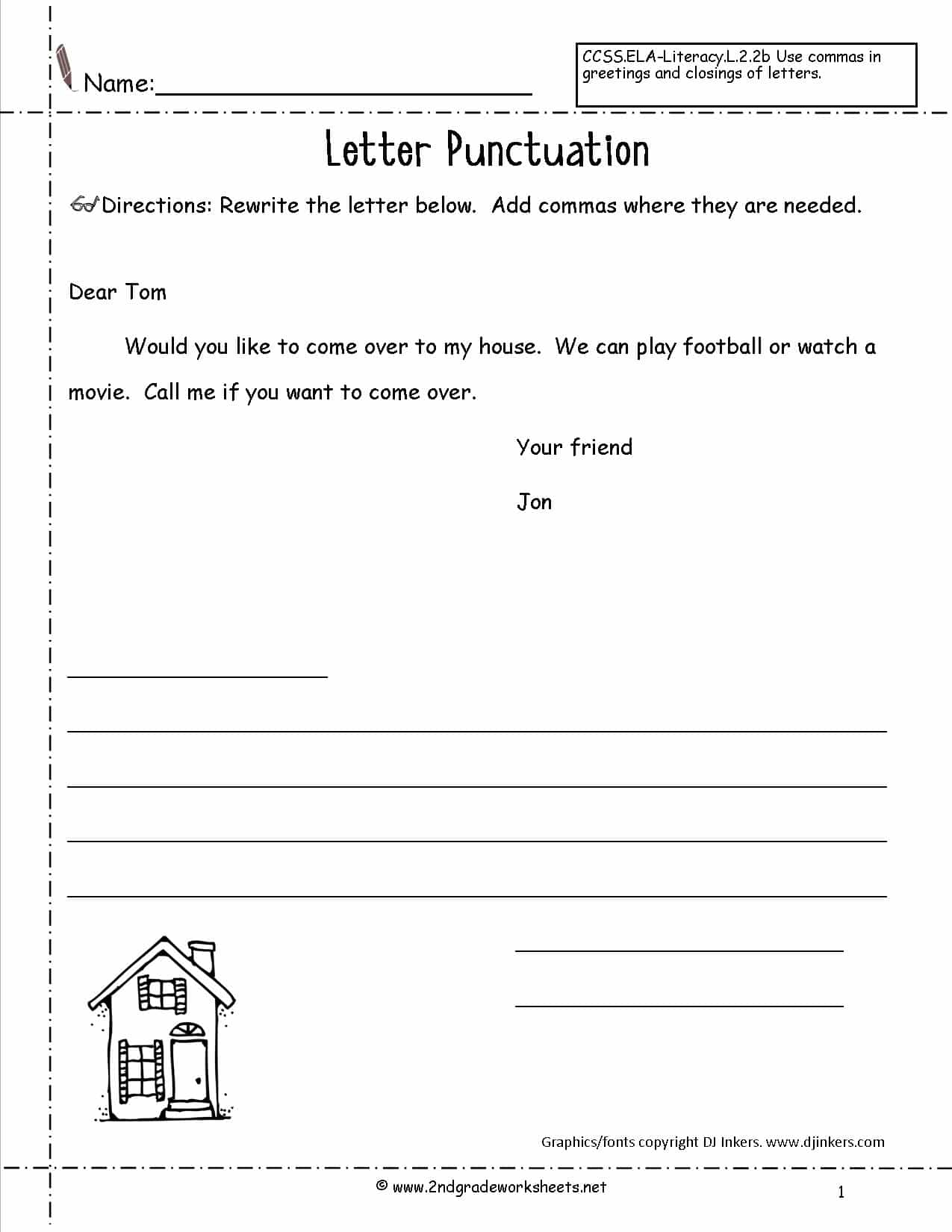 Letter Writing Worksheets For Grade 5 Pdf And Esl Writing Worksheets