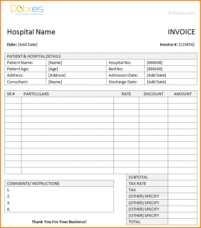 Billing Invoice Template For Word And Taxi Bill Invoice Format In Word