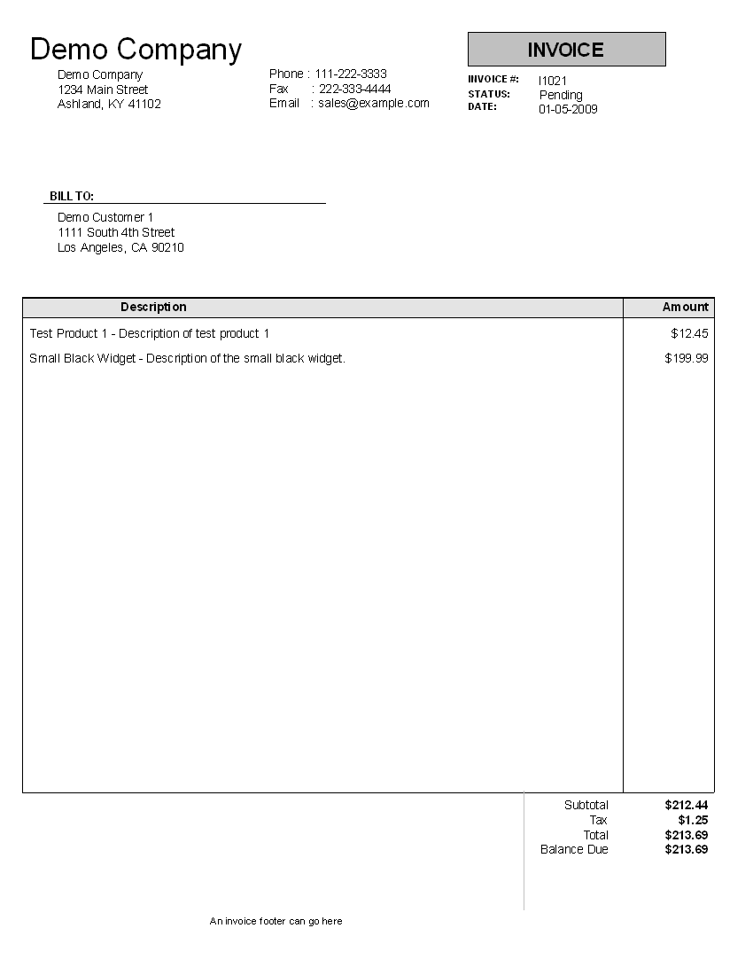 Invoice Template For IT Consulting Services And Professional Services Invoice Template