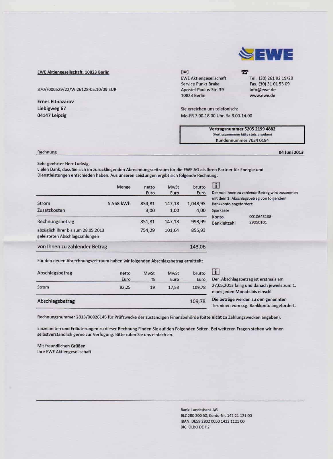 Utility Bill Template And Free Printable Invoice Templates