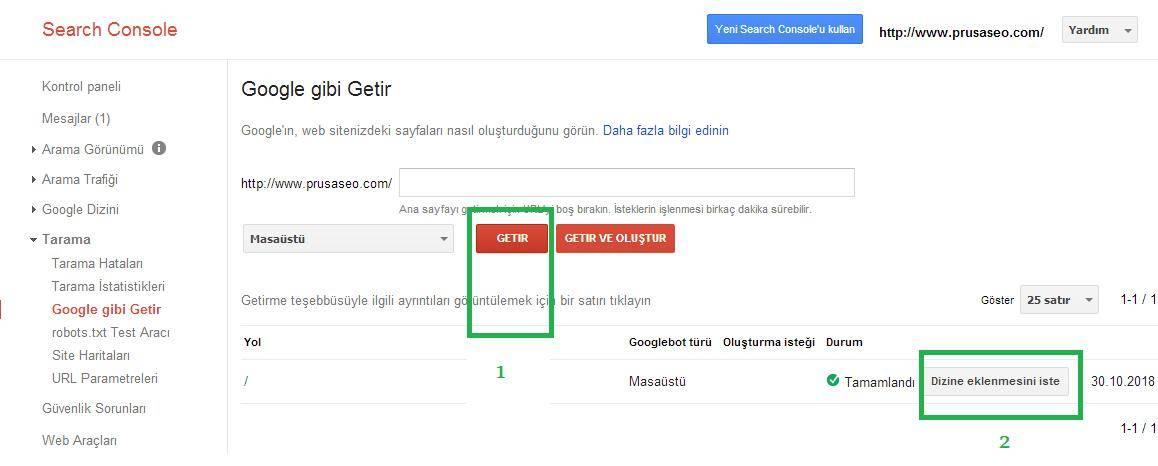 Google Gibi Getir İşlemleri