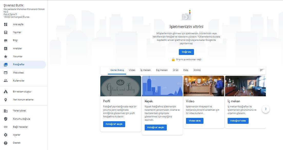 Google Benim İşletmem Fotoğraflar