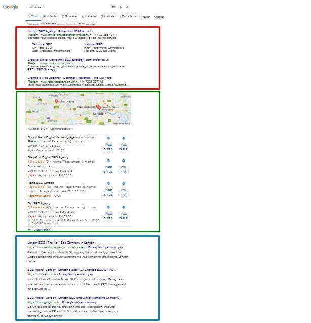 Google Reklam, İşletmem ve Organik Sıralaması