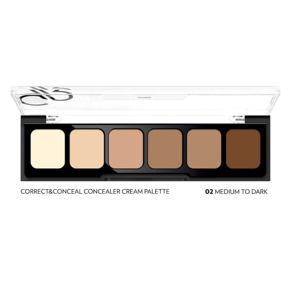 paleta korektorjev concealer cream palette medium to dark
