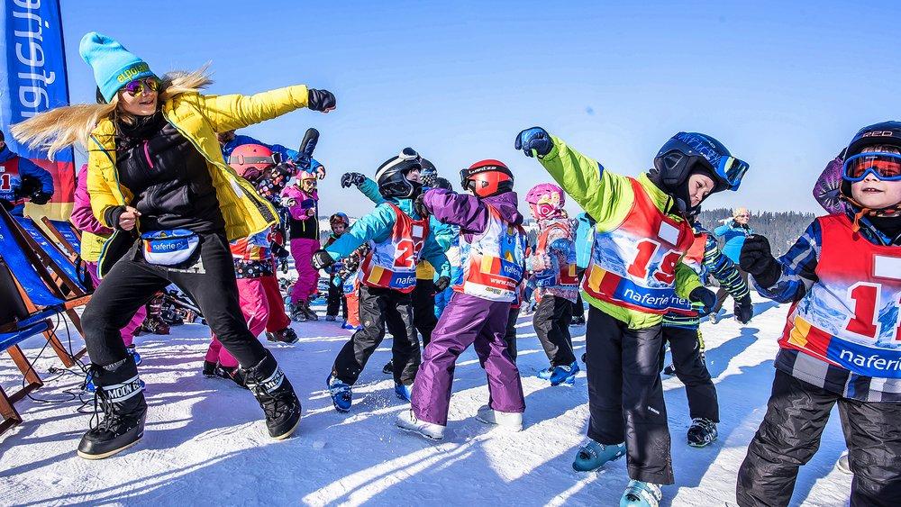 przedszkole narciarskie we Wloszech