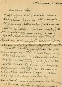 List ks. Tadeusza Fedorowicza do siostry Olgi Fedorowicz, 4.08.1990