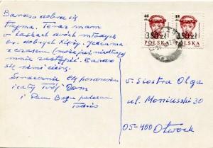 List ks. Tadeusza Fedorowicza do siostry Olgi Fedorowicz, 15.09.1990
