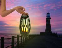 Flamme lampe med LED og Bluetooth