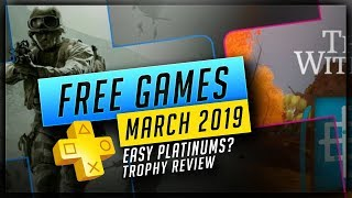 PlayStation Plus March 2019 Free PS4 Games – Free PS+ Trophies, But