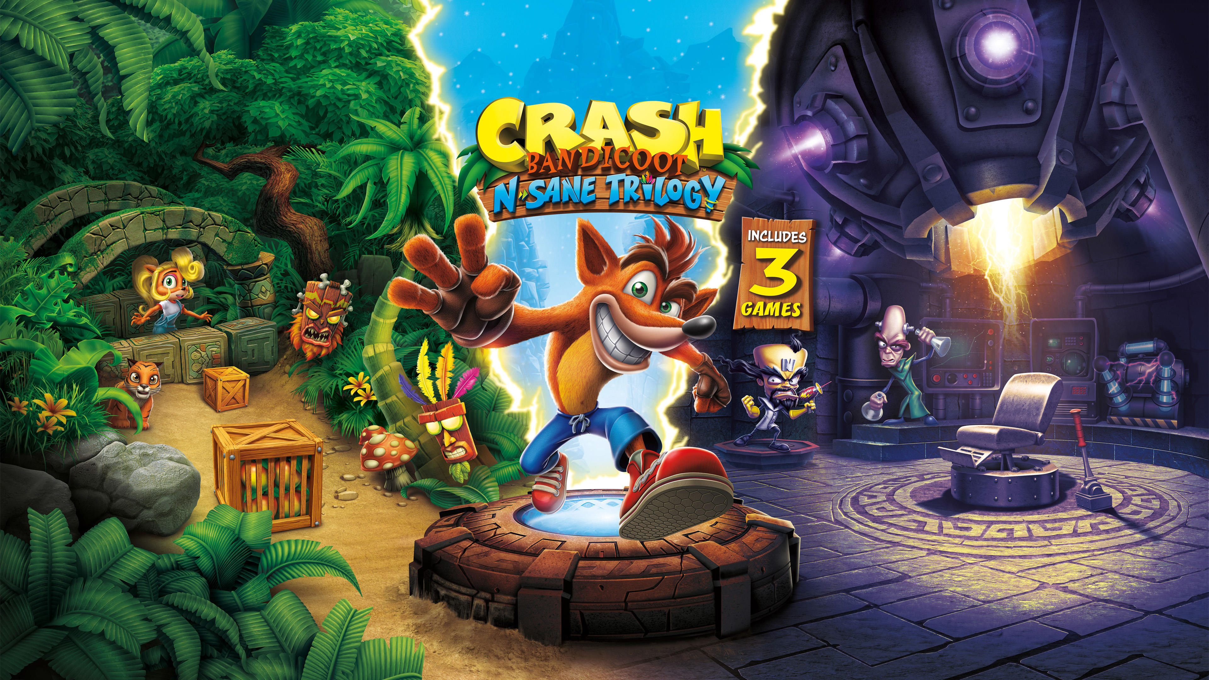 crash bandicoot n. sane trilogy   ps4wallpapers