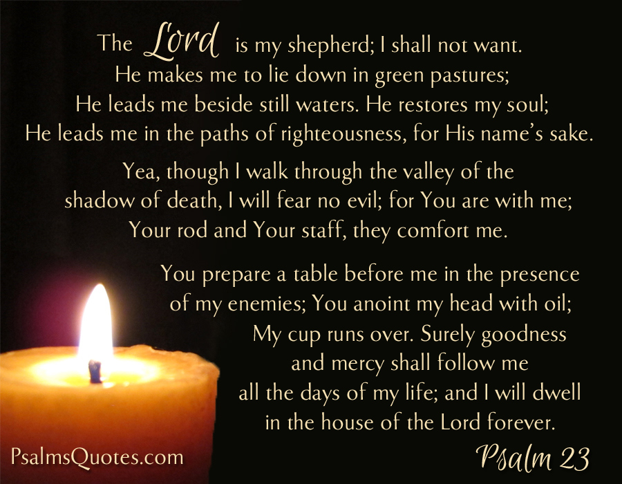 Image result for psalm 23 esv bible gateway