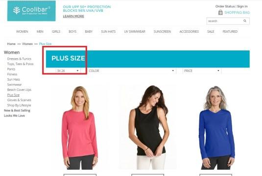 coolibar vêtements taille plus