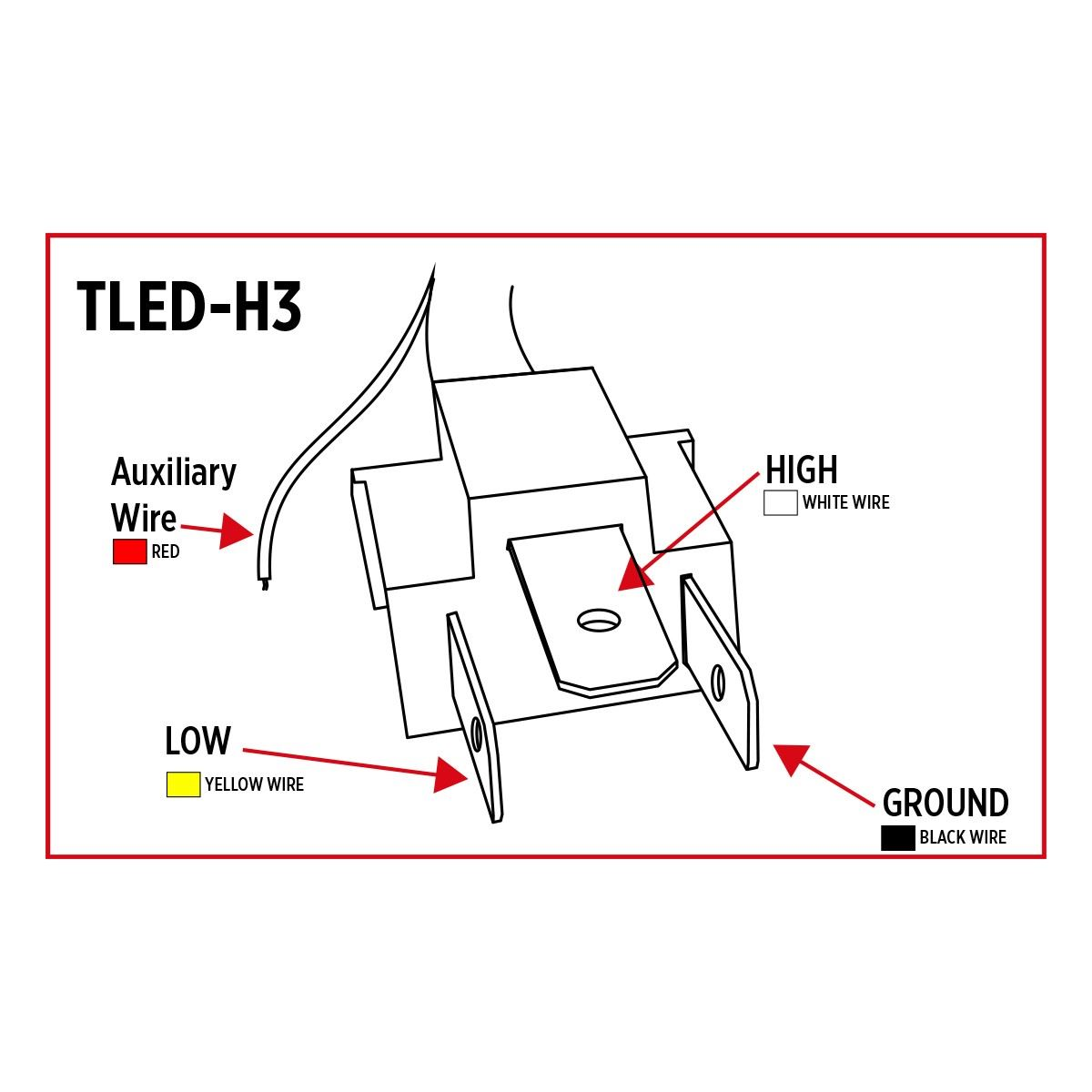 Tled H3 Led Projector Headlight