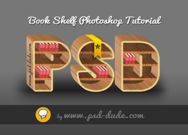 Photoshop from this quick tutorial. Call this first layer, Shelf Text