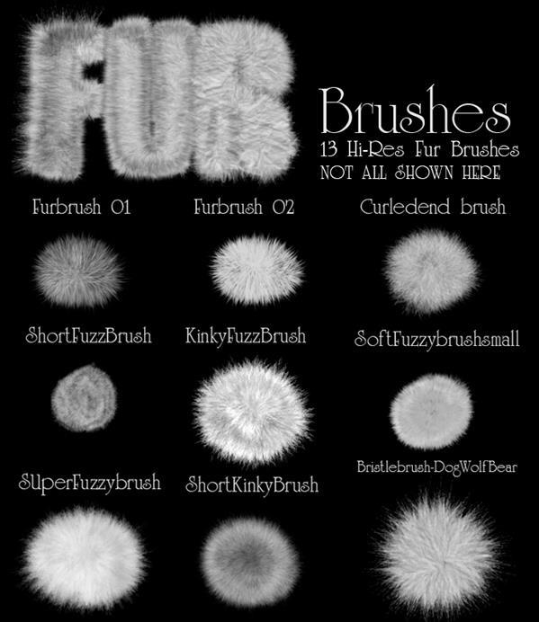 Fur And Animal Hair Brushes For Photoshop PSDDude
