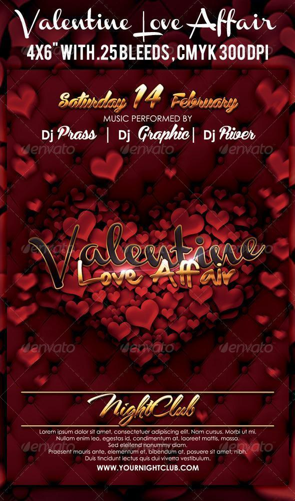 Valentine Party Templates Premium PSD Files PSDDude