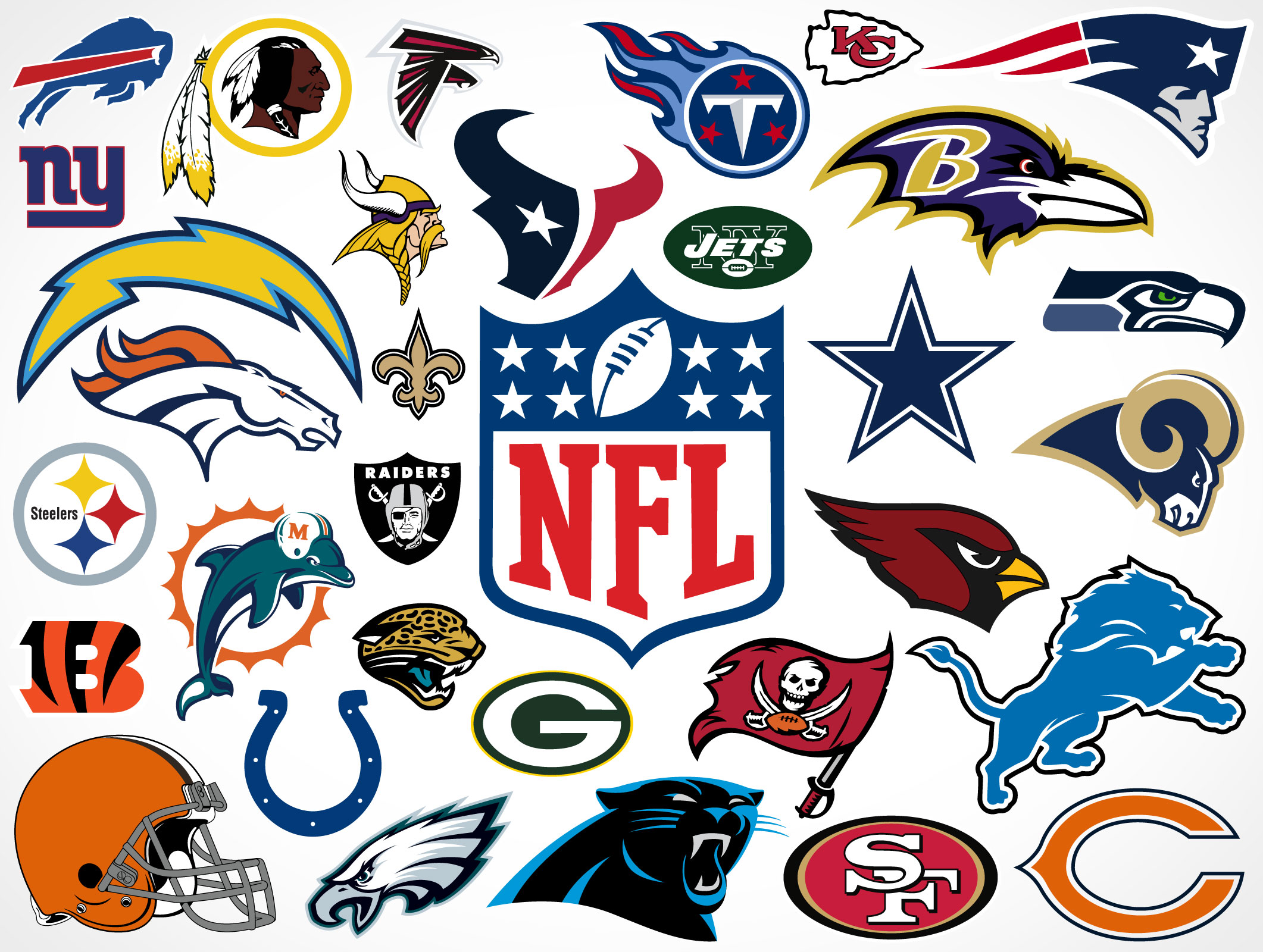 National Football League Team Vector Logos Market Your Psd Mockups For Logos