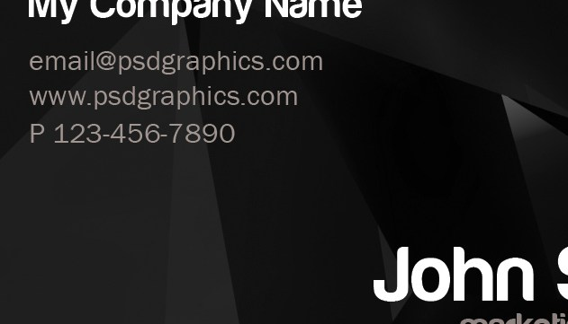 Grabs Full Pixels » Stylish business card template  PSD    PSDGraphics Stylish dark business card template     back