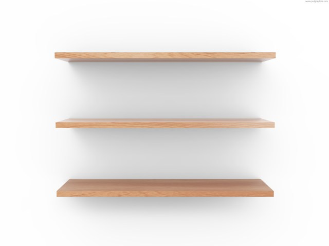 Medium size preview (1280x960px): Wooden shelf
