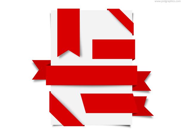ribbons corners labels