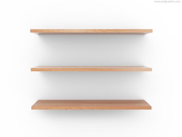 empty wooden shelf background modern architectural design element
