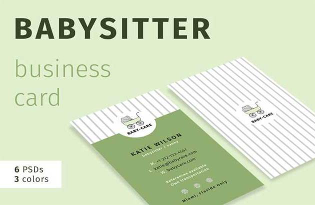 Babysitter Business Card 2851003 ByFelicity2527s Creative Shop Free Download