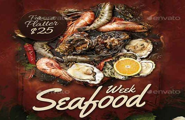 Seafood Flyer Template 24092695 Free Download PSDLY