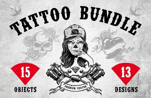 Tattoo BUNDLE By DGIM Studio 2190257 Free Download PSDLY