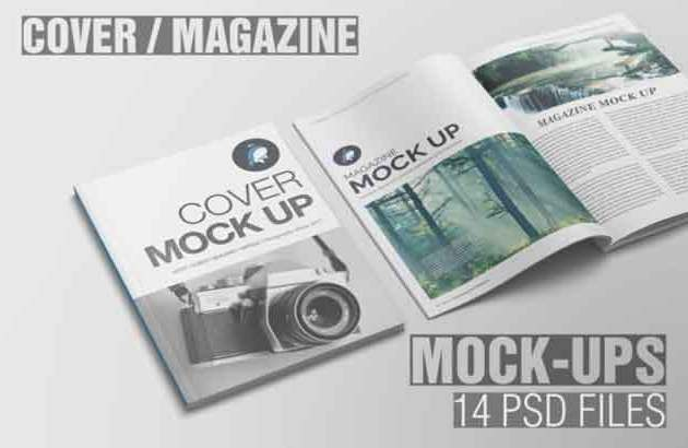 Magazine Cover Mockup Creativefabrica Free Download Link10
