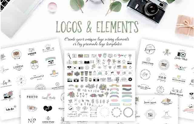 Photography Logo Pack BySwitzergirl Creativemarket Free Download2