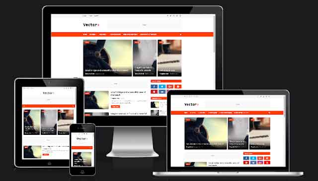Vector Blogging Blogger Template 1