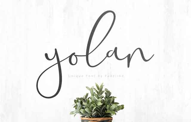 Yolan Unique Font ByFadeLine Studio Free Download PSDLY